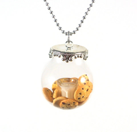 Cookies and Milk in a Globe Necklace