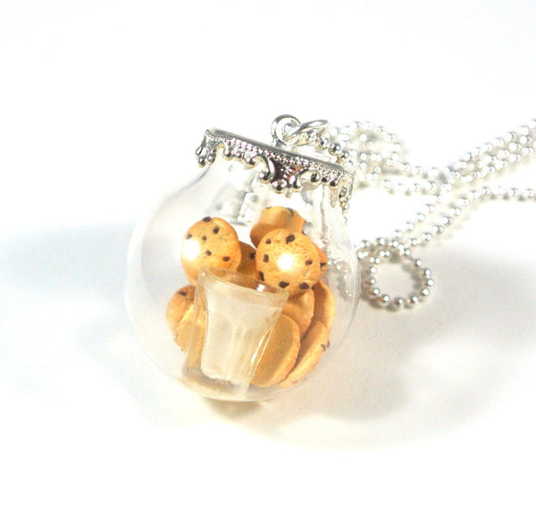 Cookies and Milk in a Globe Necklace - Gemnesis