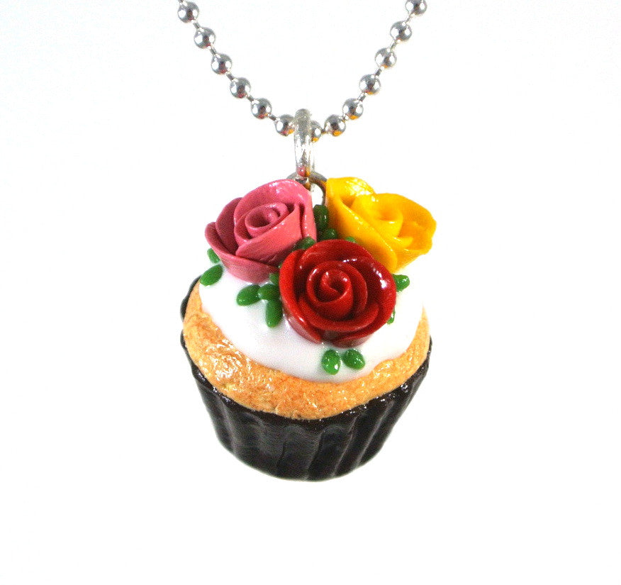 Floral Cupcake Necklace