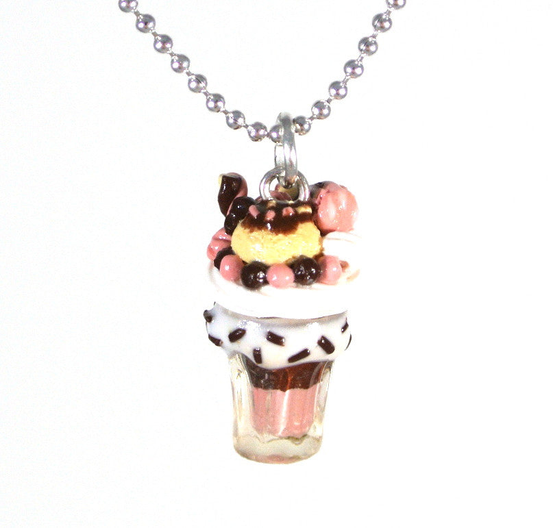 Neapolitan MilkShake Necklace
