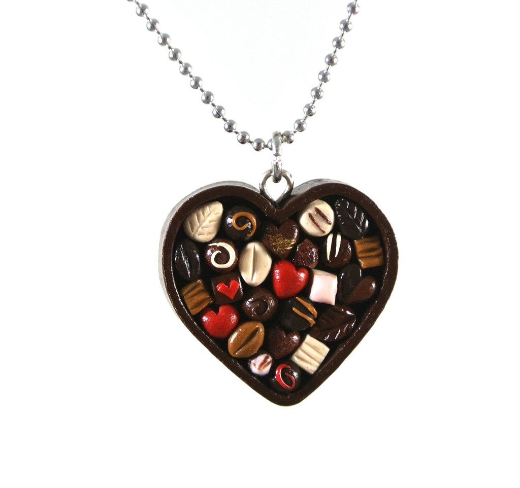 Chocolate Heart Box Necklace - Gemnesis