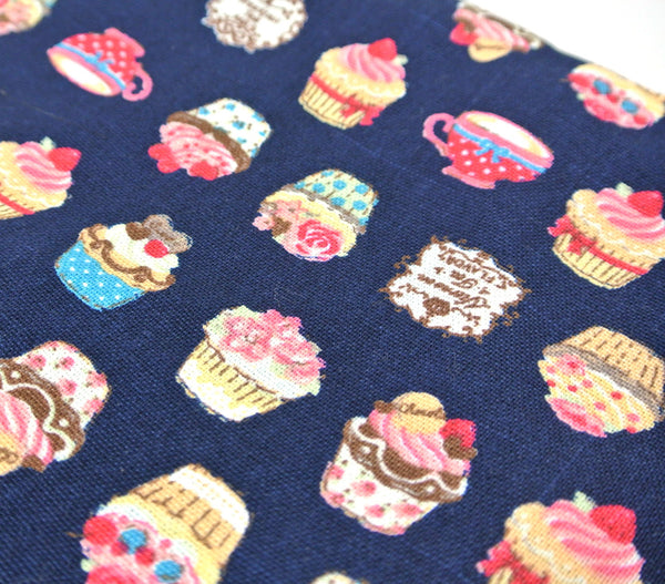 Navy Blue Cupcake Pouch (S)