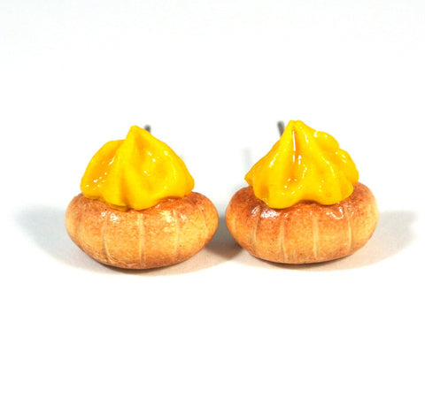 Gem Biscuit Ear Studs (Yellow) - Gemnesis