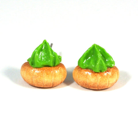 Gem Biscuit Ear Studs (Green)