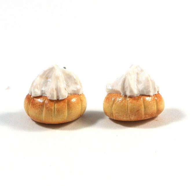 Gem Biscuit Ear Studs (White) - Gemnesis