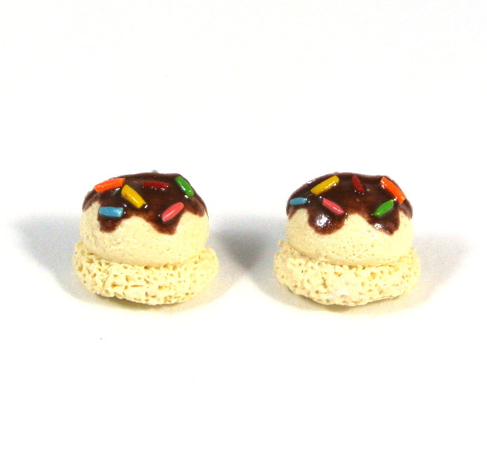 Ice Cream Scoop Ear Studs (Vanilla) - Gemnesis