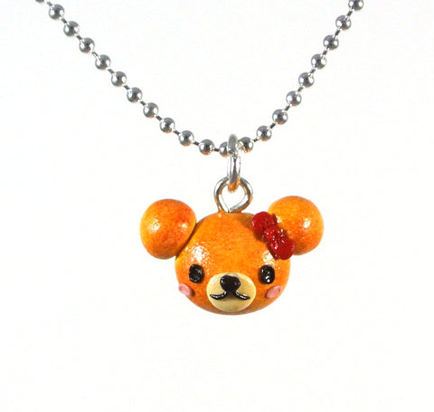 Teddy Bread Bun (Girl) Necklace - Gemnesis
