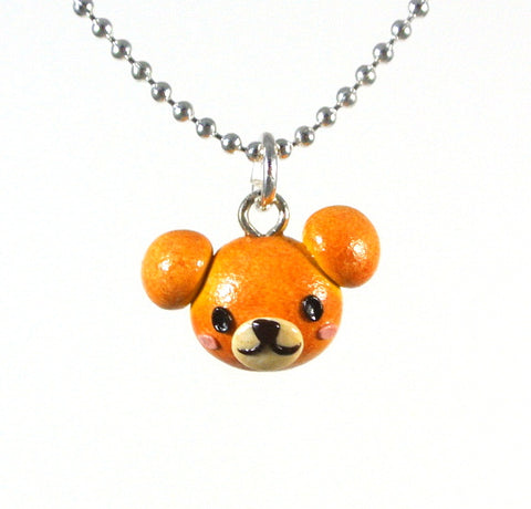 Teddy Bread Bun (Boy) Necklace - Gemnesis