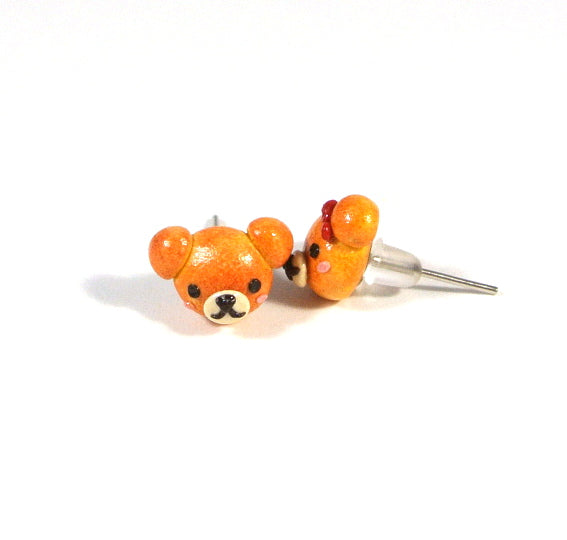 Teddy Bread Bun Ear Studs - Gemnesis