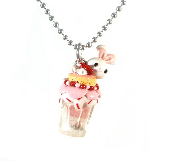 Animal Series-Pink Bunny Necklace - Gemnesis