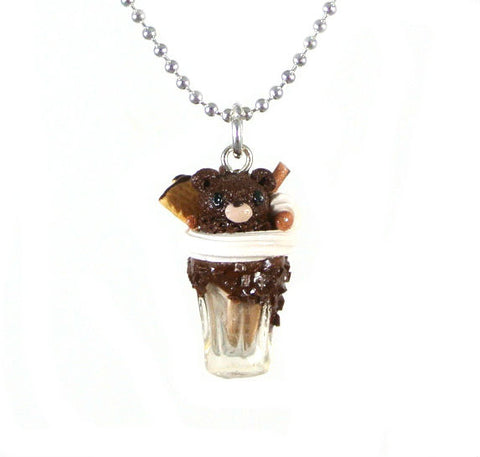 Animal Series-Chocolate Bear Necklace - Gemnesis