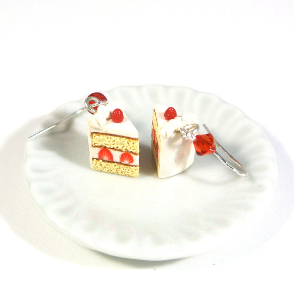 Strawberry Shortcake Slice Earrings - Gemnesis