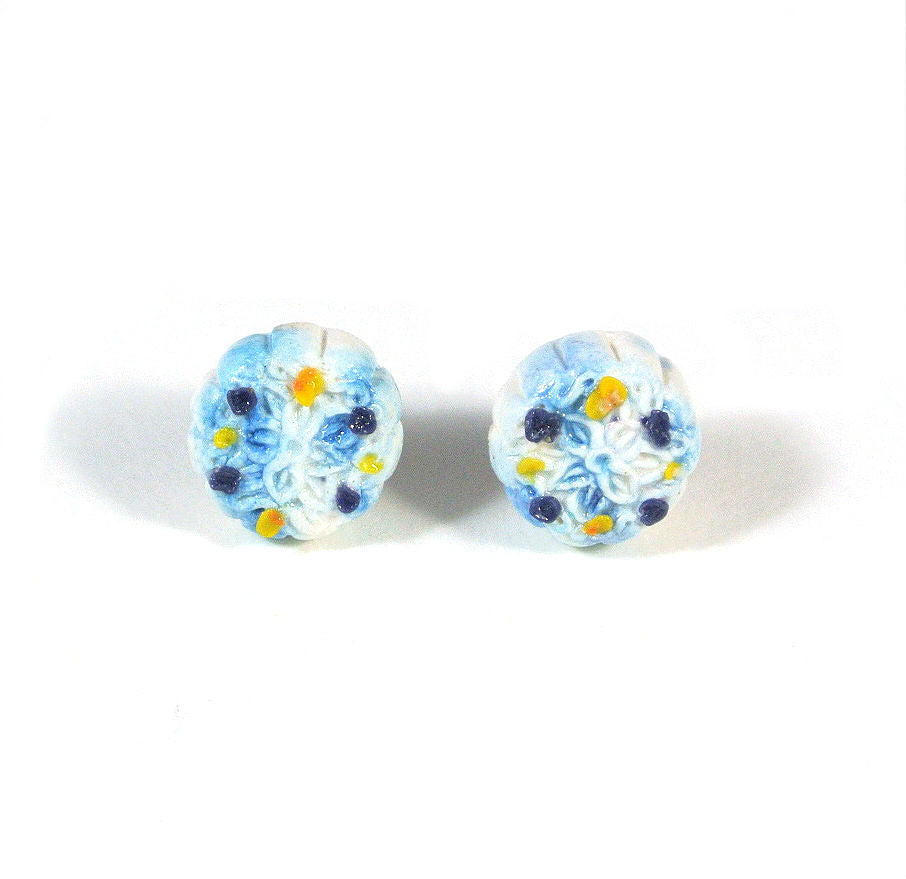 Mooncake- Blue Pea Ear Studs - Gemnesis