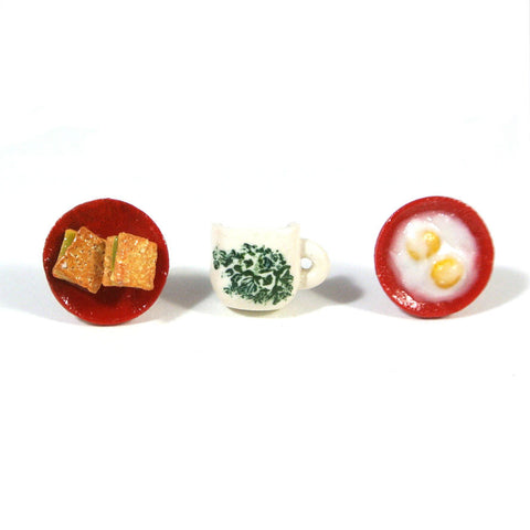 Kaya Toast Set Ear Studs - Gemnesis