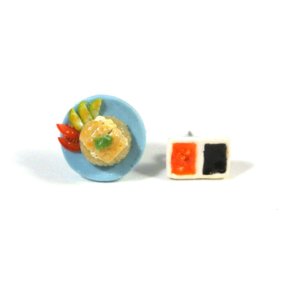Chicken Rice Set Ear Studs - Gemnesis