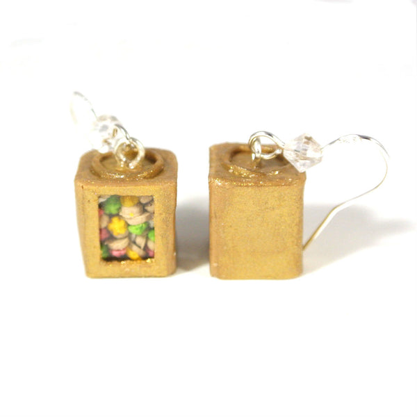 Traditional Gem Biscuit Tin Earrings - Gemnesis