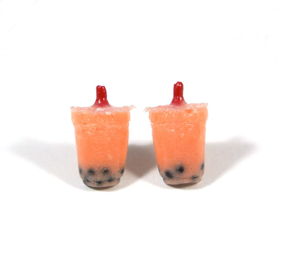 Bubble Tea Ear Studs-Strawberry - Gemnesis