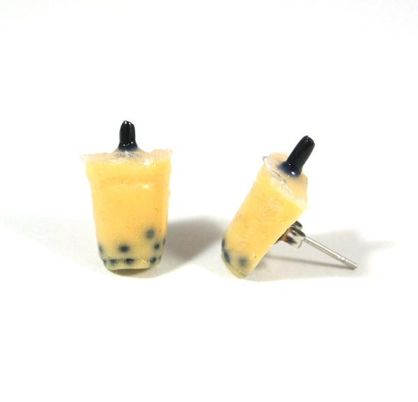 Bubble Tea Ear Studs-Milk Tea - Gemnesis