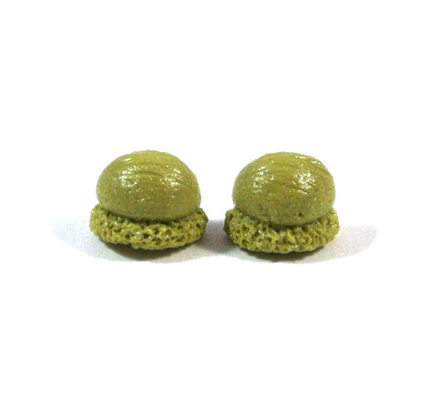 Ice Cream Scoop Ear Studs (Matcha) - Gemnesis