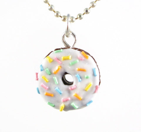 White Chocolate Rainbow Rice Donut Necklace - Gemnesis