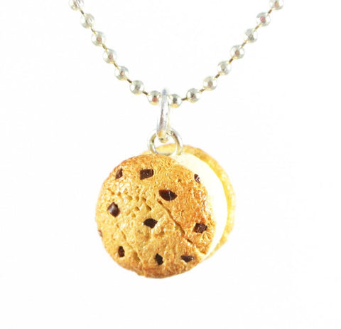 Vanilla Ice Cream Cookie Sandwich Necklace - Gemnesis