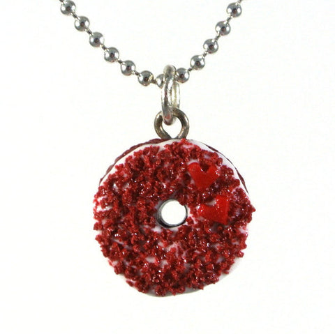 Red Velvet Donut Necklace - Gemnesis