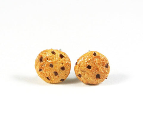 Chocolate Chip Cookie Ear Studs - Gemnesis