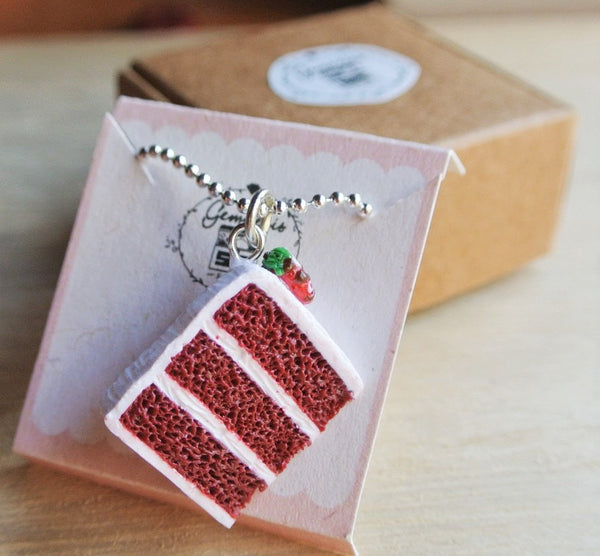 Red Velvet Cake Necklace - Gemnesis