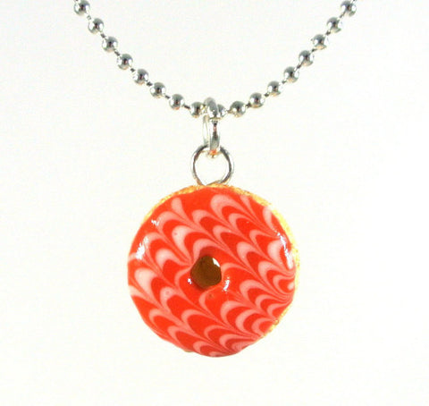 Pink Glazed Donut Necklace - Gemnesis
