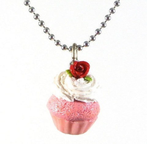 Rose Cupcake Necklace - Gemnesis