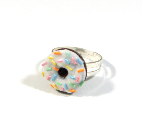 White Chocolate Rainbow Rice Donut Ring