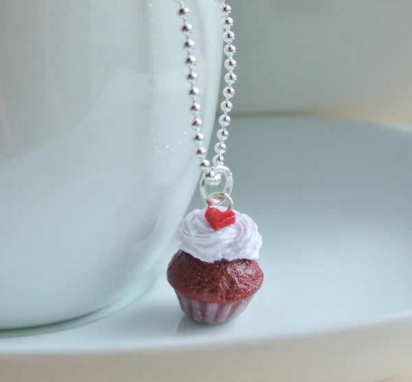 Red Velvet Cupcake Necklace - Gemnesis