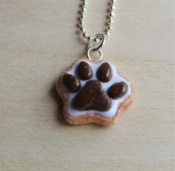 Dog Paw Cookie Necklace - Gemnesis