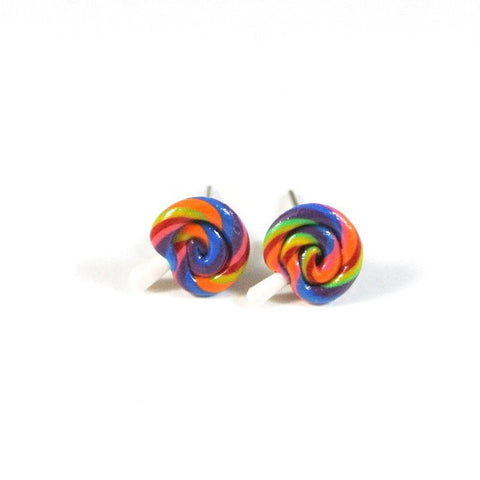 Rainbow Lollipop Ear Studs - Gemnesis