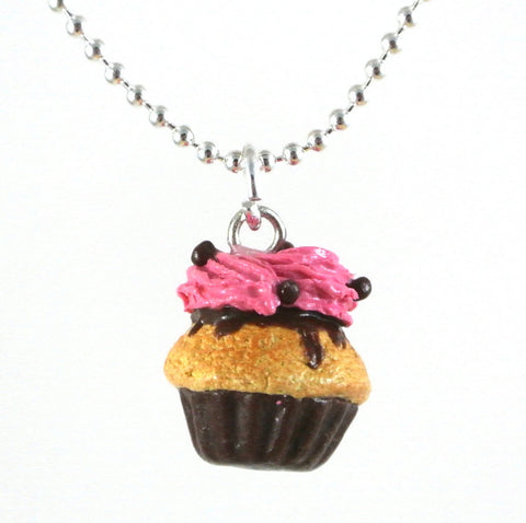 Raspberry Cupcake Necklace - Gemnesis