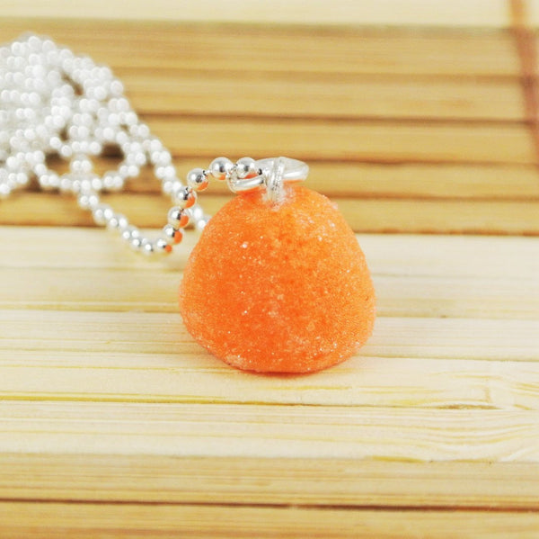 Orange Gumdrop Necklace - Gemnesis