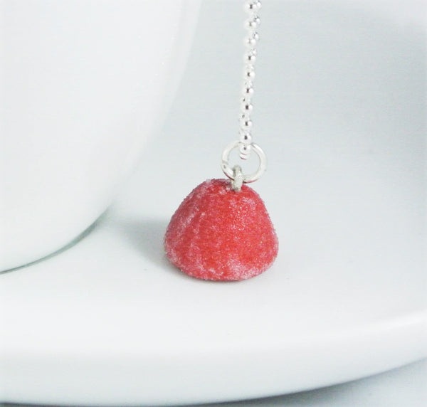 Red Gumdrop Necklace - Gemnesis