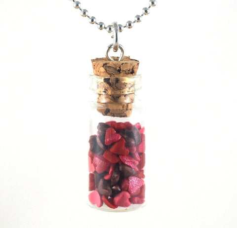 Mini Hearts in a Bottle Necklace - Gemnesis