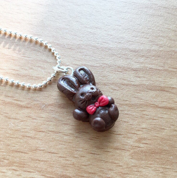 Chocolate Bunny Necklace - Gemnesis