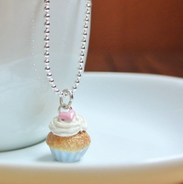 Blue Pastel Cupcake Necklace - Gemnesis