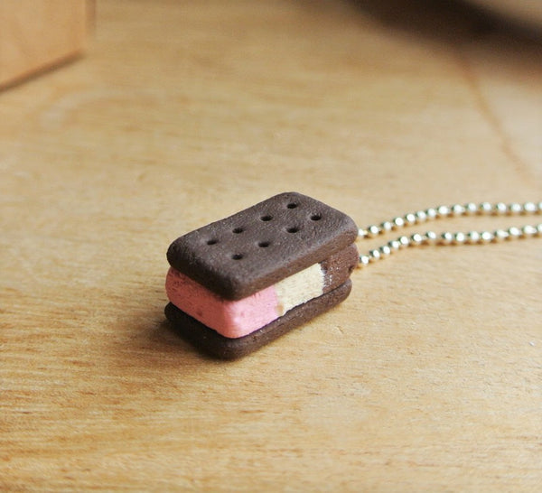 Neapolitan Ice Cream Biscuit Necklace - Gemnesis