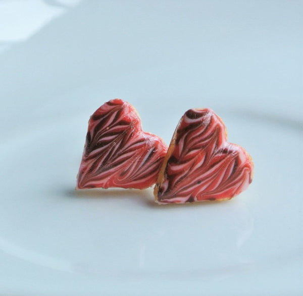 Heart Shape Cookie Ear Studs - Gemnesis