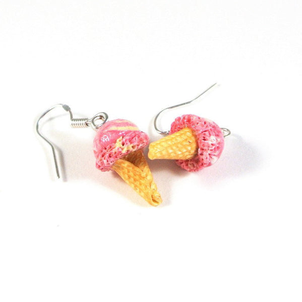 Strawberry Vanilla Ice Cream Earrings - Gemnesis