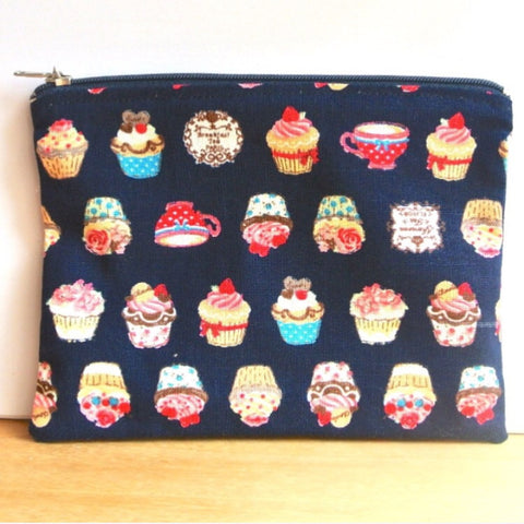 Navy Blue Cupcake Pouch (M)