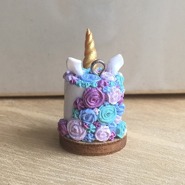 Unicorn Cake Necklace (Turquoise, Purple,Blue) - Gemnesis