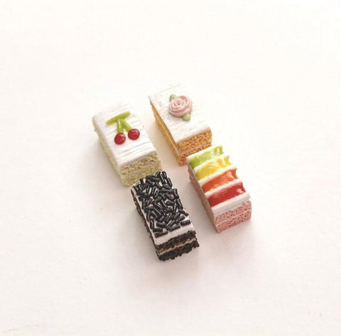 Traditional Cream Cake Ear Studs - Gemnesis