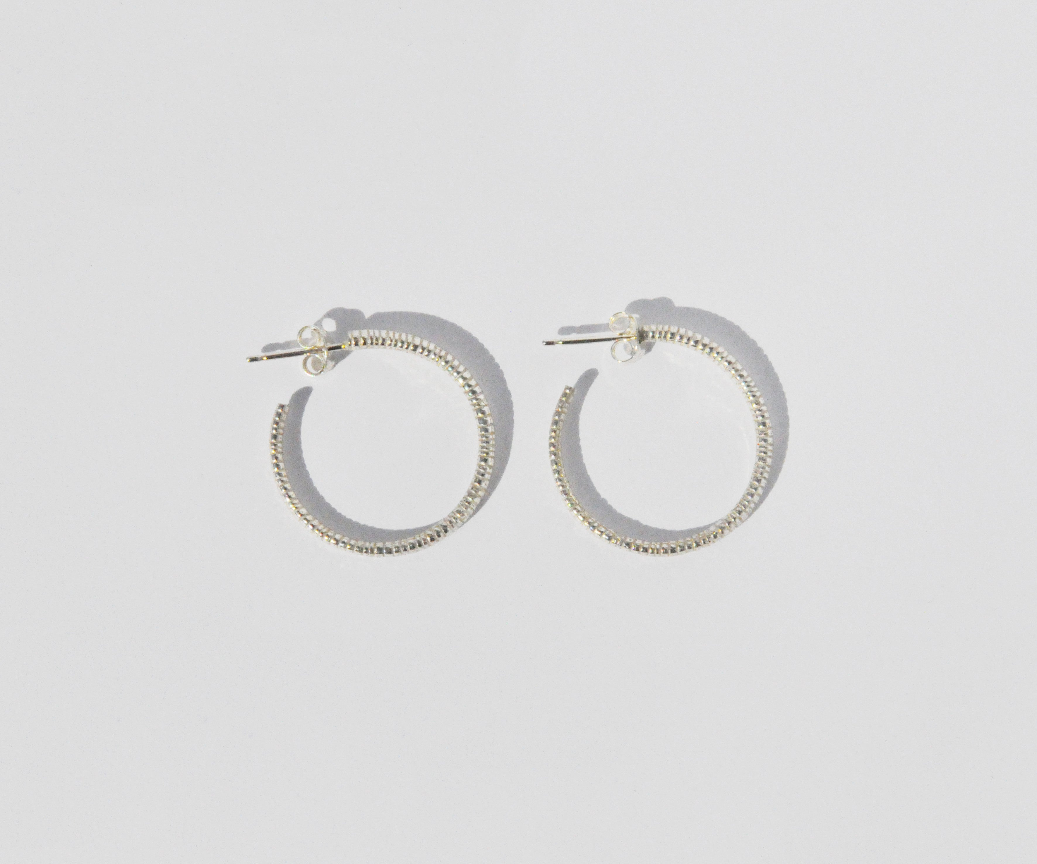 salt hoop earrings