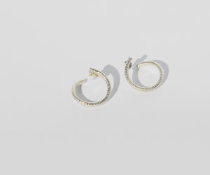 salt spiral earrings