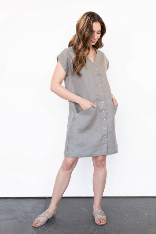 Mara Dress in Linen