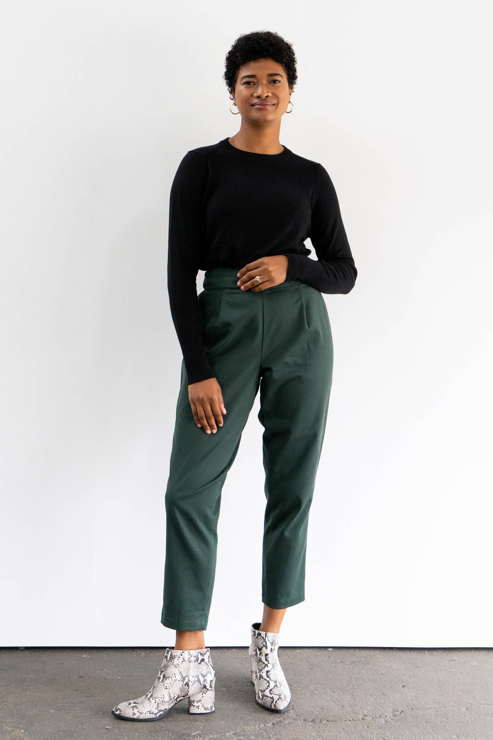 Keaton Pleated Pants in Cotton Twill